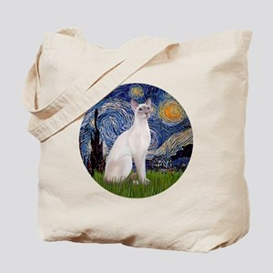 Starry Night - Siamese Cat (LilacPt) Tote Bag