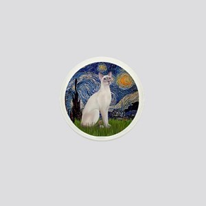 Starry Night - Siamese Cat (LilacPt) Mini Button
