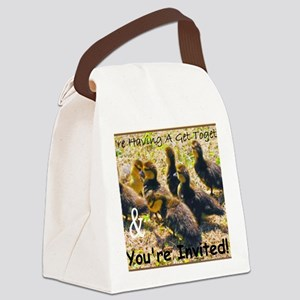 Ducklings Youre Invited Canvas Lunch Bag