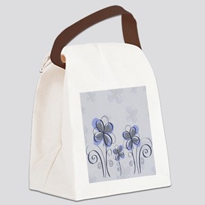 flowerpink3 Canvas Lunch Bag