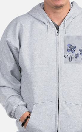flowerpink3 Zip Hoodie