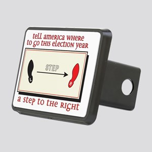A step to the right Rectangular Hitch Cover