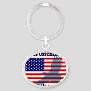 Flag  Eagle Patriot Oval Keychain