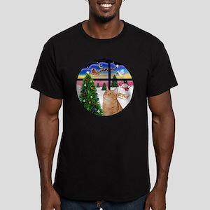 X Window - Orange Tabb Men's Fitted T-Shirt (dark)