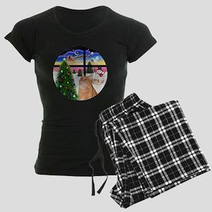 X Window - Orange Tabby 46 Women's Dark Pajamas