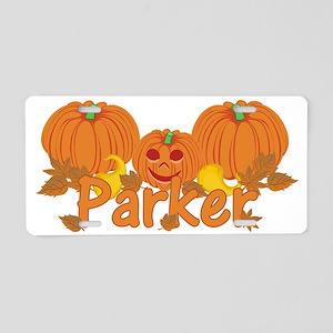Halloween Pumpkin Parker Aluminum License Plate