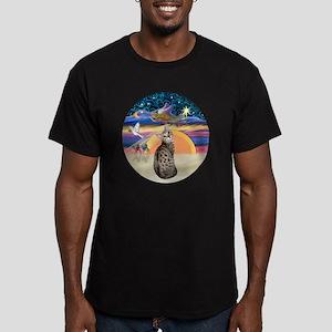 XAngel-BengalCat1 Men's Fitted T-Shirt (dark)