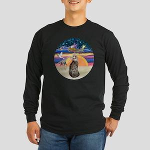 XAngel-BengalCat1 Long Sleeve Dark T-Shirt