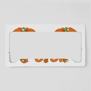 Halloween Pumpkin Peter License Plate Holder
