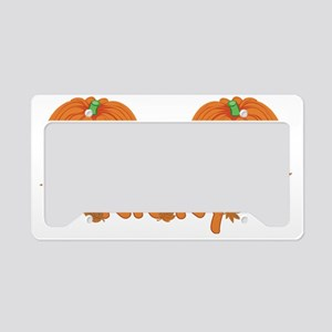 Halloween Pumpkin Ricky License Plate Holder
