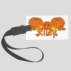 Halloween Pumpkin Riley Large Luggage Tag
