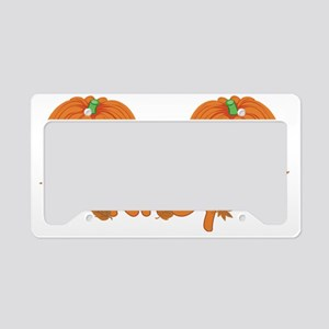 Halloween Pumpkin Riley License Plate Holder
