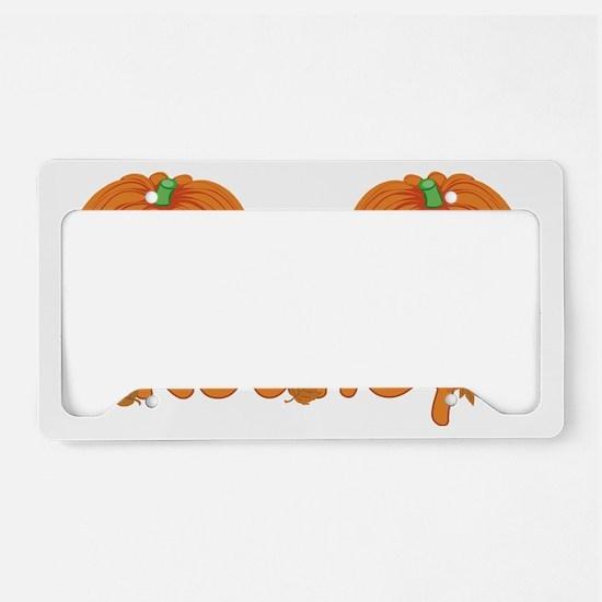Halloween Pumpkin Rodney License Plate Holder