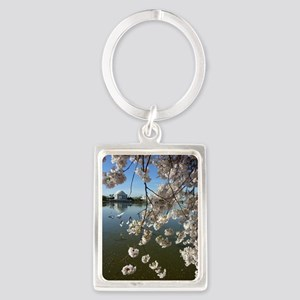 Seagulls Fly Under Peal bloom ch Portrait Keychain