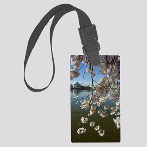 Seagulls Fly Under Peal bloom ch Large Luggage Tag