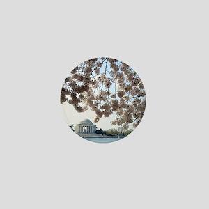 Peal bloom cherry blossom frames Jeffe Mini Button