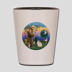 St Francis - Himalayan (Flame Pt) Shot Glass