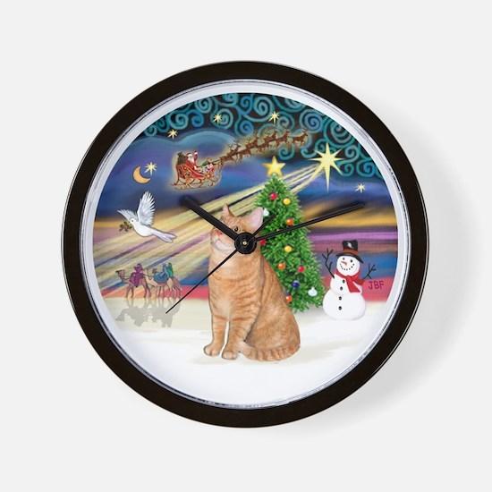 X Magic - Orange Tabby 46 Wall Clock
