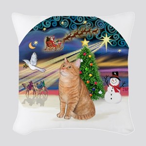 X Magic - Orange Tabby 46 Woven Throw Pillow