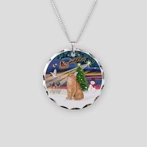 X Magic - Orange Tabby 46 Necklace Circle Charm