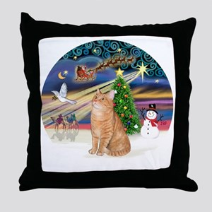X Magic - Orange Tabby 46 Throw Pillow