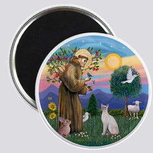 St Francis - Siamese Cat (Lilac Pt) Magnet