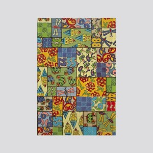 Quilt Rectangle Magnet
