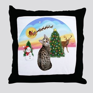 TakeOff - Bengal Cat1 Throw Pillow