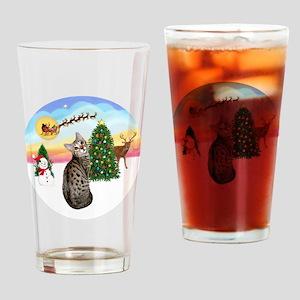 TakeOff - Bengal Cat1 Drinking Glass