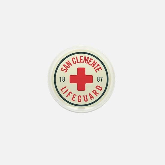San Clemente Lifeguard Patch Mini Button