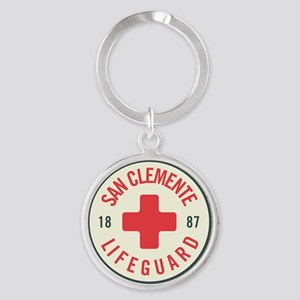 San Clemente Lifeguard Patch Round Keychain