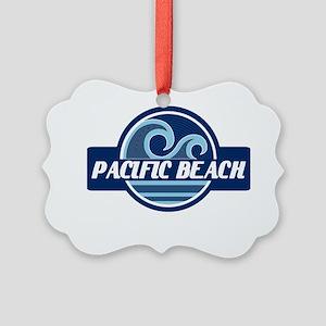 Pacific Beach Surfer Pride Picture Ornament