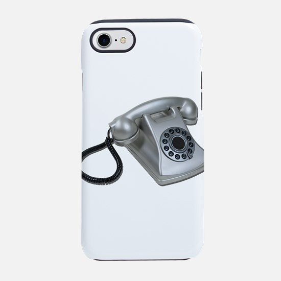 SilverRetroDeskPhone052711.png iPhone 7 Tough Case