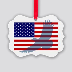 Flag  Eagle Patriot Picture Ornament