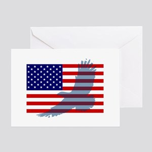 Flag  Eagle Patriot Greeting Card