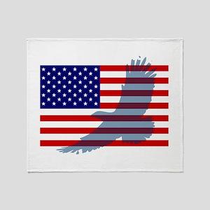 Flag  Eagle Patriot Throw Blanket