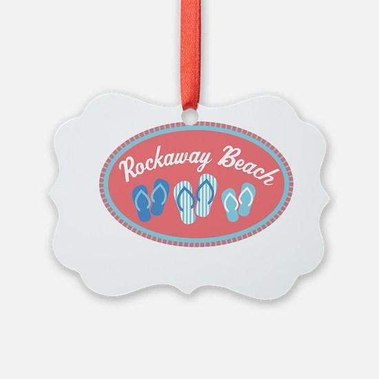 Rockaway Beach Sandal Badge Ornament