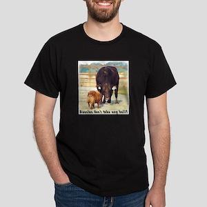 Aussies Don't Take Any Bull Dark T-Shirt