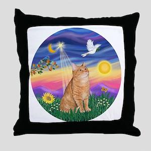 Twilight - Orange tabby Throw Pillow