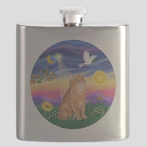 Twilight - Orange tabby Flask