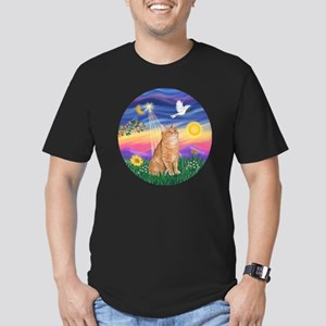 Twilight - Orange tabb Men's Fitted T-Shirt (dark)