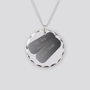 My son survived boot camp Necklace Circle Charm
