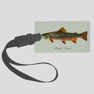 Brook Trout Large Luggage Tag