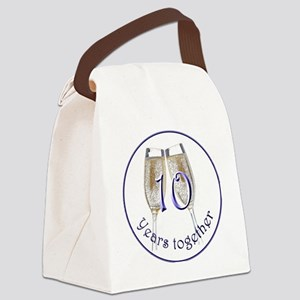 Celebrate 10 Years Together! Canvas Lunch Bag