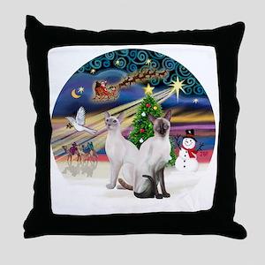 XMagic-Two Siamese 53+54 Throw Pillow