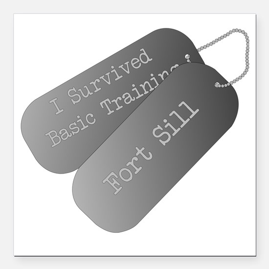 "I survived basic trainin Square Car Magnet 3"" x 3"""