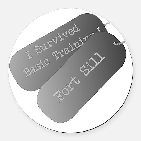 I survived basic training at Fort Round Car Magnet
