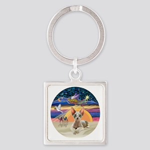 C-Angel - Sphync cat (ld) Square Keychain
