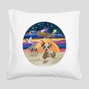 C-Angel - Sphync cat (ld) Square Canvas Pillow