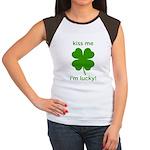 Kiss Me, I'm Lucky Women's Cap Sleeve T-Shirt